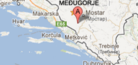 Our location on Medjugorje map.
